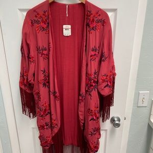 Free People, Red Fringe Duster